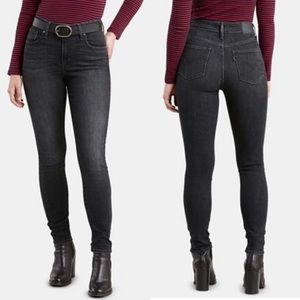 Levi's 721 high rise skinny jeans washed black